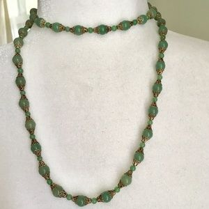 Altar'd State Green Jade Colored Beads & Gold Tone